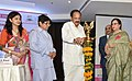 M. Venkaiah Naidu lighting the lamp to inaugurate the International Conference on 'Empowering Women Fostering Entrepreneurship, Innovation and Sustainability', organised by the NITI Aayog and Shri Ram College of Commerce.JPG