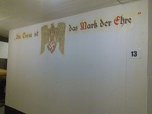 "Kristiansand Cannon Museum - Restaured wallpainting: ""Fidelity is the sign of honor"""