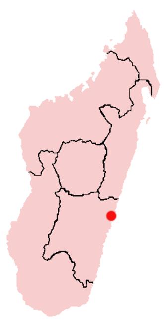 Mananjary, Fianarantsoa - Location of Mananjary in Madagascar
