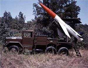 MGM-18 Lacrosse - MGM-18 Lacrosse on an XM-398 Launcher