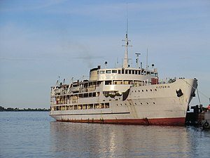 Ferry - MV ''Victoria'' (formerly RMS Victoria) at Bukoba Port in Lake Victoria, Africa.