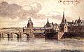Maastricht, gezicht op de Maasbrug en Wyck (J de Grave, 1671).jpg