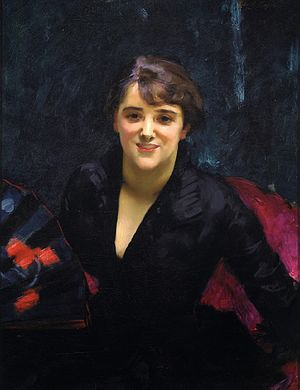 Eugenia Errázuriz - Madame Errazuriz or The Lady in Black, John Singer Sargent, c. 1882-1883