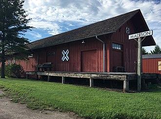 Madison, Kansas - Historic ATSF depot (2016)