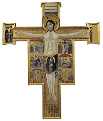 Crucifix with stories of the Passion and Redemption