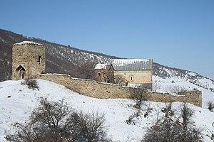 "Maghalashvili - The Maghalashvili familial church and castle (""Maghalaant complex"") in Shida Kartli."