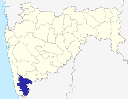 Location of Kolhapur district in Maharashtra