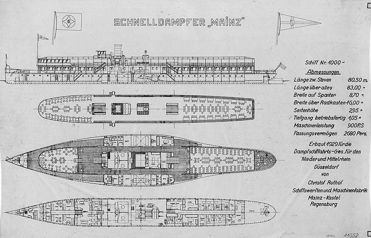 Mainz (ship, 1929) Generalplan 1929.jpg