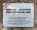 Maison des associations Colonel Arnaud Beltrame (Saint-Priest, Métropole de Lyon) - plaque.jpg