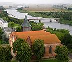 Polska - Malbork, Widok na skrzyżowanie Aleja Rod