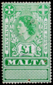 Malta 1954 Queen Elizabeth II revenue stamp.png