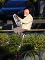 Man Reads Morning Paper in Park - Cetinje - Montenegro.jpg