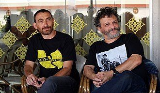 Manetti Bros. - Antonio (left) and Marco (right) Manetti, at the 2017 Venice Film Festival