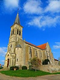 Manhoué l'église Saint-Georges.JPG
