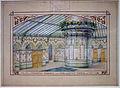 Manifattura di maiolica di sarreguemines, progetto di decorazione per i bagni termali di mont-dore (puy-de-dome), 1905 ca. 02.JPG