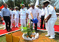 Manohar Parrikar undertook customary tree plantation at Karwar Naval Base, 2016.JPG