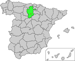 Location of Covarrubias