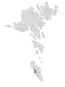 Location of the municipality in the Faroe Islands