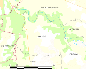Bernède - Bernède and its surrounding communes