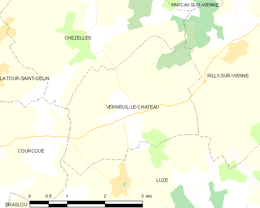 Verneuil-le-Château – Mappa