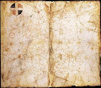 Pietro Vesconte - Image: Map from Pietro Vesconte 1313 atlas