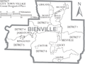 Map of Bienville Parish Louisiana With Municipal and District Labels.PNG