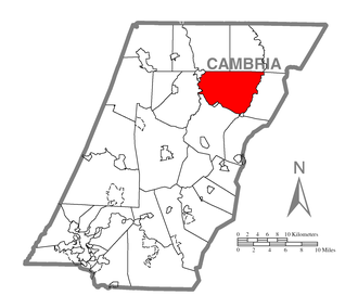 Clearfield Township, Cambria County, Pennsylvania - Image: Map of Clearfield Township, Cambria County, Pennsylvania Highlighted