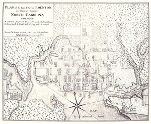 Edenton, North Carolina - Plan of the Town and Port of Edenton in Chowan County, North Carolina, 1769