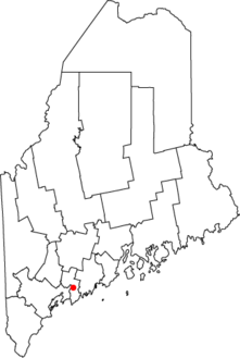 Location of Bath in Maine