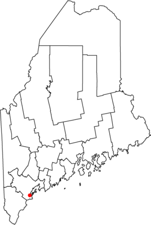 National Register of Historic Places listings in Portland, Maine - Location of Portland in Maine