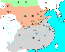 Location of Liu Song