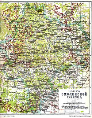 Smolensk Governorate - Map of Smolensk Governorate