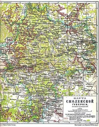 Smolensk Governorate - Map of Smolensk Governorate