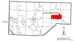 Map of Steuben Township, Crawford County, Pennsylvania Highlighted.png