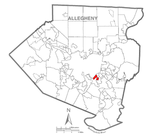 Map of West Homestead, Allegheny County, Pennsylvania Highlighted.png