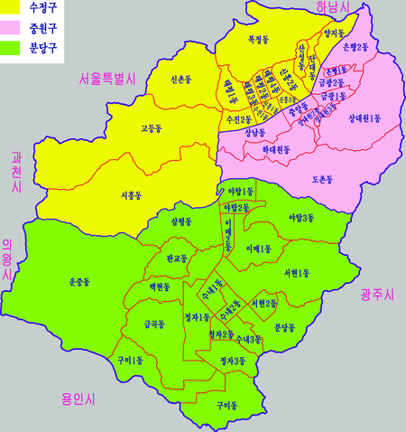 Map of the city of Seongnam, Gyeonggi Province, Republic of Korea.png