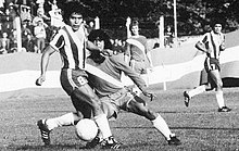 877643765a Maradona's most famous nutmeg, the day he debuted in Primera División, 20  October 1976
