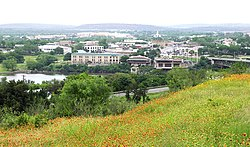 Hill view of Marble Falls, 2007