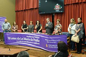 Domestic violence in Brazil - In 2016, the Maria da Penha Law complete 10 years
