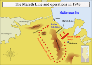 Mareth Line building in French protectorate of Tunisia
