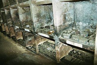 Château Margaux - Ancient bottles in the Château Margaux cellar.