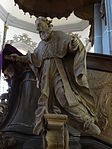 Marienstiftskirche Lich Kanzel Bernhard von Clairvaux 05.JPG