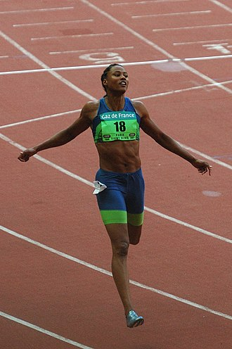 Athletics at the 1998 Goodwill Games - Marion Jones broke two Games records to win the 100 m and 200 ;m golds.