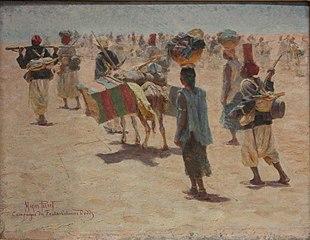 Tirailleurs sénégalais en arrière-garde, esquisse