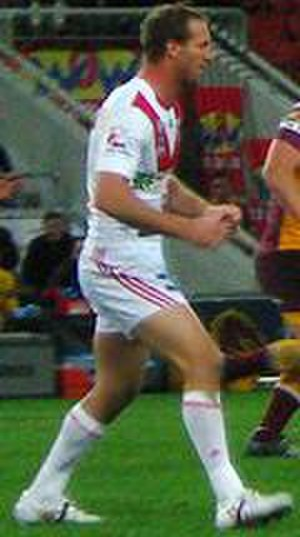 Mark Gasnier - Gasnier playing for the Dragons in 2008
