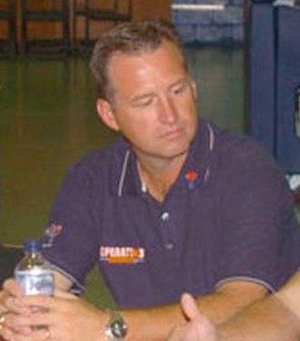 Mark Gottfried - Gottfried at Camp Arifjan in 2005.
