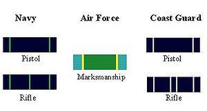Marksmanship Ribbon - Image: Marksman Ribbons
