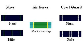 Marksmanship Ribbon - Image: Marksman Ribbons
