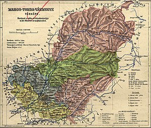 Maros-Torda County -  Contemporary map about the county