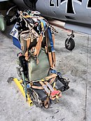 Ejection seat removed from a F-104G